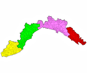 The municipalities of Liguria